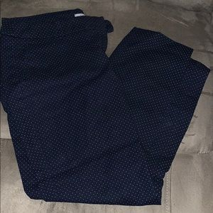 Dalia navy polka dot pants 8